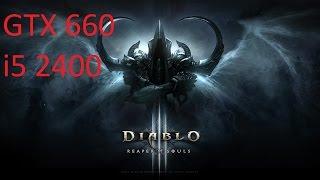 GTX 660 i5 2400 Gameplay: Diablo 3 Max Settings