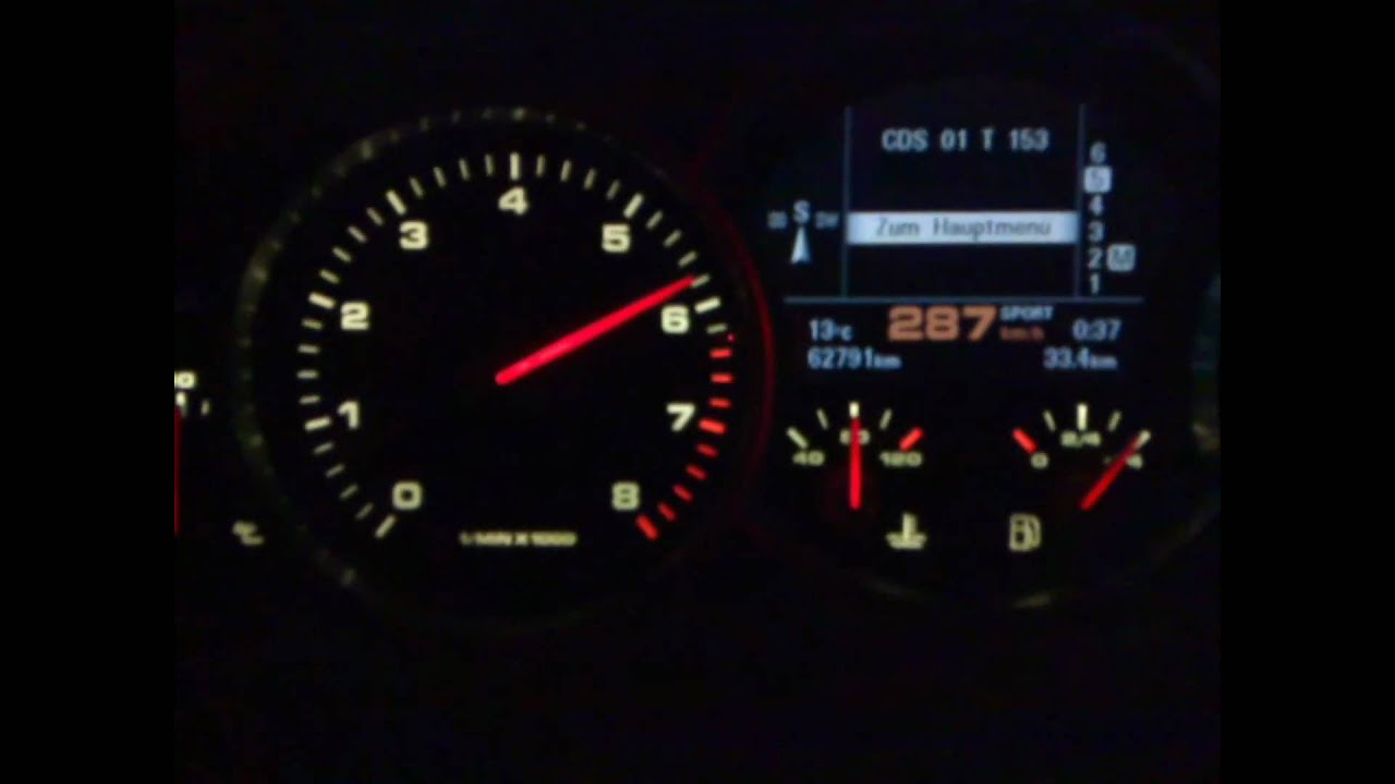 Cayenne Turbo Top Speed 290 Km H Youtube