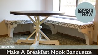 How To: Make A Breakfast Nook Banquette