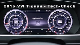 2016 VW Tiguan Tech-Check - Infotainment-System - CarPlay - Rückfahrkamera - 3D View