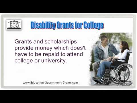 Disability Grants for College