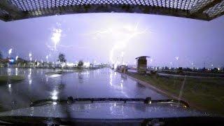 Epic lightning strikes tower in Lubbock Texas