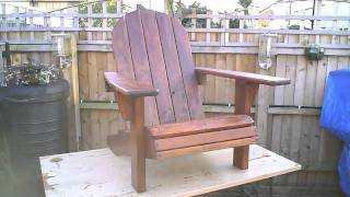 Adirondack Chair, Planter And Stool