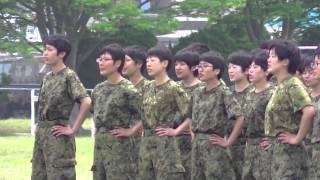 Repeat youtube video 2014/05/25 武山駐屯地 女性自衛官教育隊歌 / いきものがかり 風が吹いている 合唱