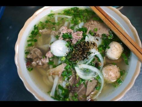 Delicious pho (Vietnamese beef noodle soup) in Da Nang, Viet Nam