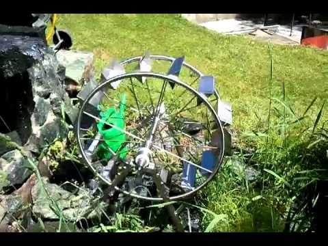 Edelstahl   Wasserrad
