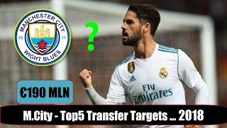 Man City - Top 5 Transfer Targets in Summer 2018 | HD