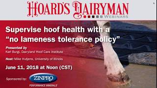 Supervise hoof health with a 'No lameness tolerance policy' thumbnail