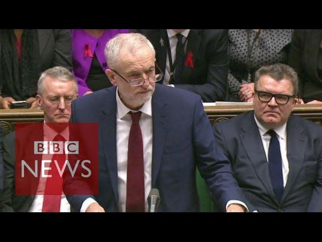 Corbyn: 'Heavy responsibility' of Syria vote - BBC News