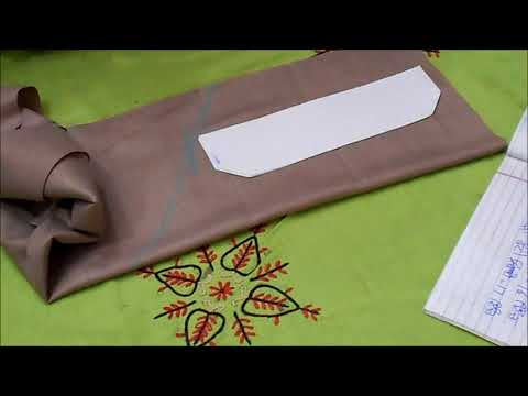 7. Cutting 'fatti', 'collar', 'kaf', 'geejha' and 'pocket' - ★★Punjabi Kurta Pajama★★ PUNJABI