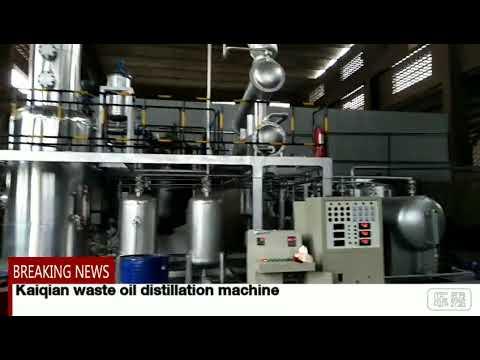 Kaiqian waste oil distillation machine 2018 10 24