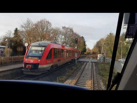 Führerstandsmitfahrt BR648 von Kiel Hbf nach Husum