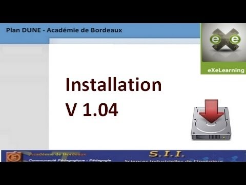 eXeLearning : installation exelearning version 1 04