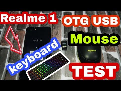Realme 1 USB OTG Test | Realme 1 Keyboard+mouse Support Test