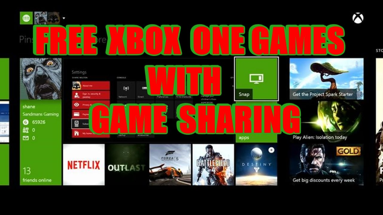 How To Get Free Xbox One Games With Game Sharing Or