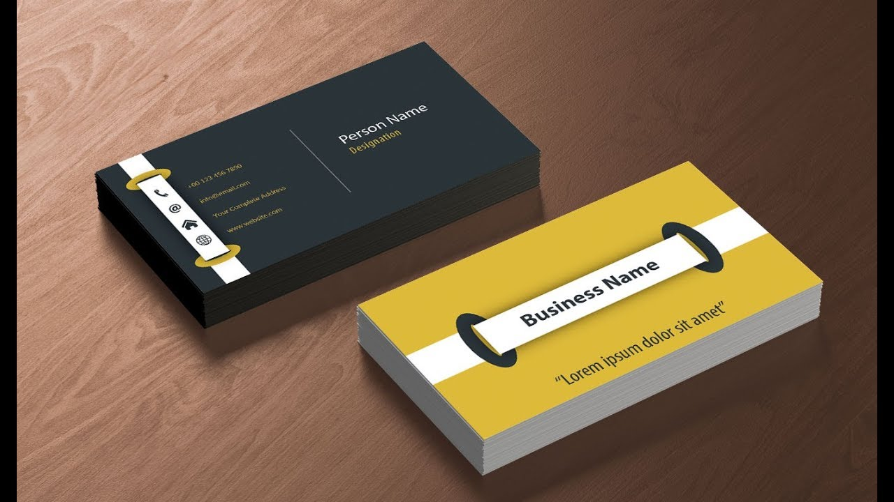 How To Design A Print Ready Business Card In Adobe Illustrator Youtube