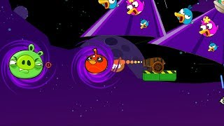 Angry Birds Collection Hacked 5 - CANNON SHOOT BOMBER TO BLACK HOLE! BLASTING THE PIGGIES!