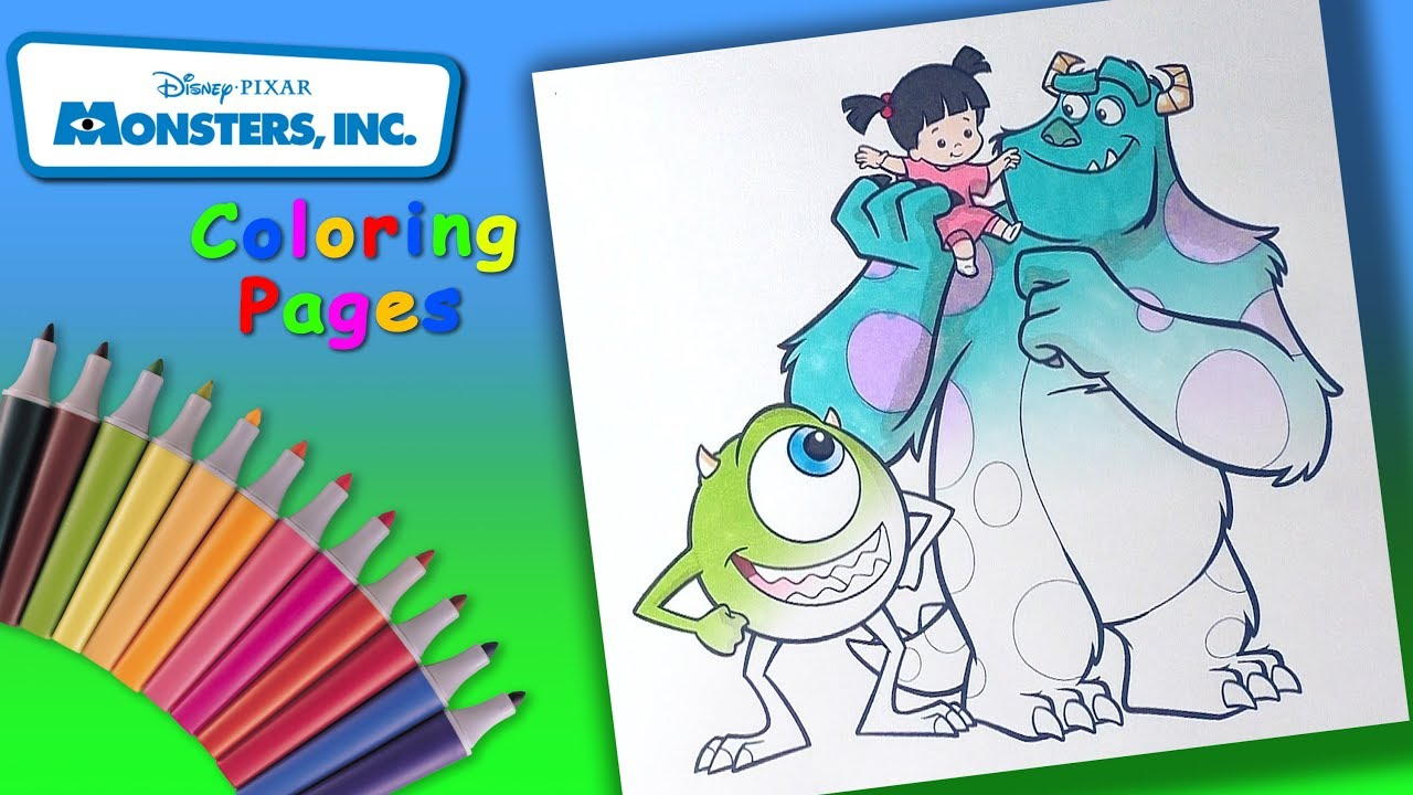 - How To Draw Mike, Sulley And Boo. Monster Inc Coloring Book For