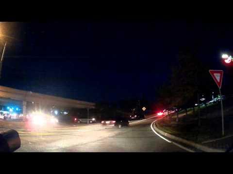 Black Box G1W Dash Cam Test At Night
