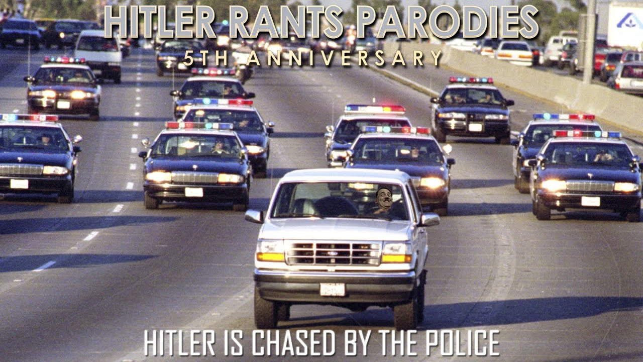 Hitler is chased by the police
