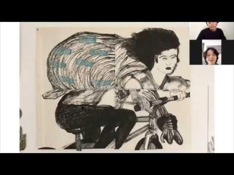 中山恵美子「民草絵画展」ZOOMにてインタビュー実施。