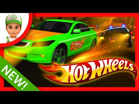 Police chase bandits on Hot Wheels and Blaze and the Monster Machines - 3D Cartoons for children