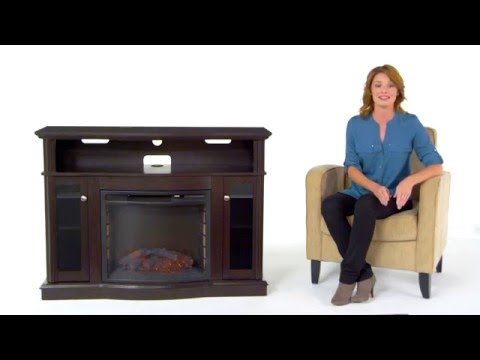 Pleasant Hearth 248-44-34M Elliot Media Fireplace Review - YouTube