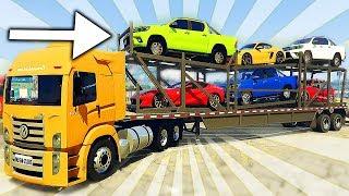 GTA V Trabalhos - Caminhão com 5 MILHÕES de CARROS