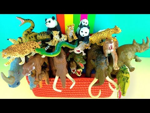 Learn about Wild Animals and their Names - Zoo Animals - Kids Educational Toys - Mammoth