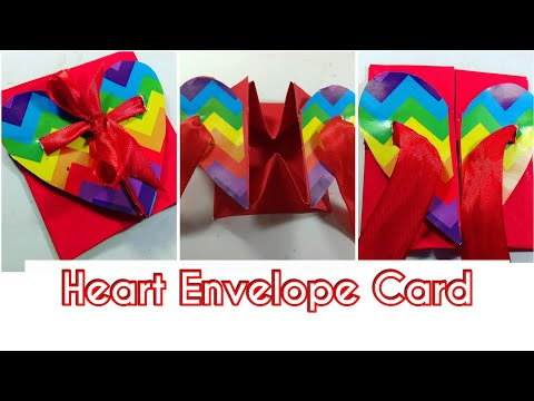 Valentine's Day Special : How to make Heart Envelope Card For Boyfriend|Easy step by step method.