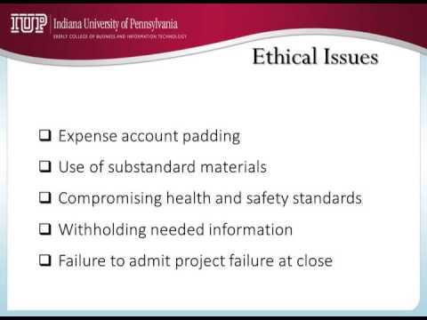 3   Project Management Ethics 4 Mins)