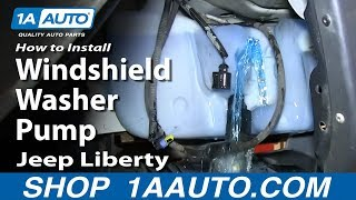 How To Install Replace Windshield Washer Pump 2002-07 Jeep Liberty