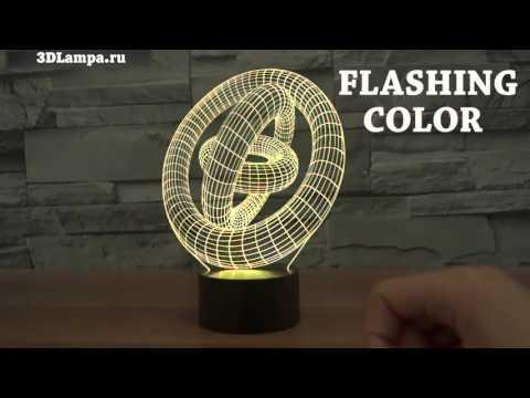 Декоративные 3D Лампы для интерьера и отличного подарка