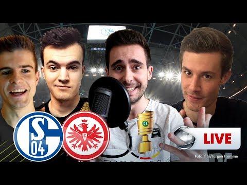 dfb-pokal---schalke-vs.-frankfurt-|-youtuber-kommentieren-live