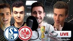 DFB-Pokal - Schalke vs. Frankfurt | Youtuber kommentieren live