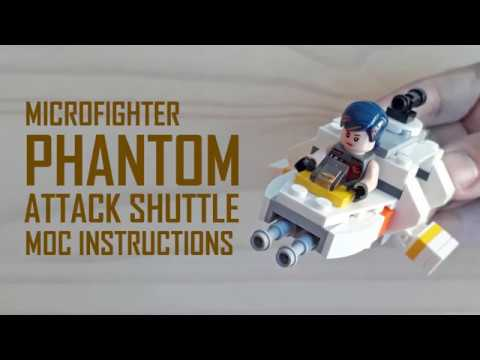 Microfighter Phantom Moc Instructions Lego Star Wars Youtube