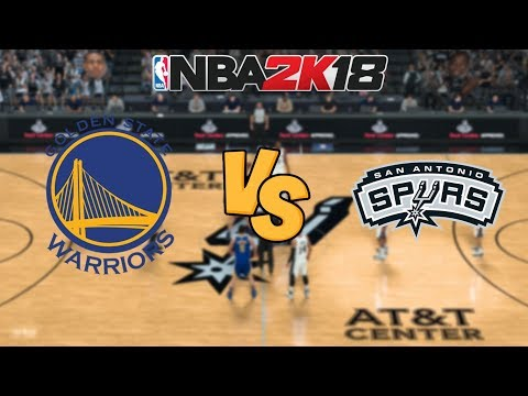 NBA 2K18 - Golden State Warriors vs. San Antonio Spurs - Full Gameplay
