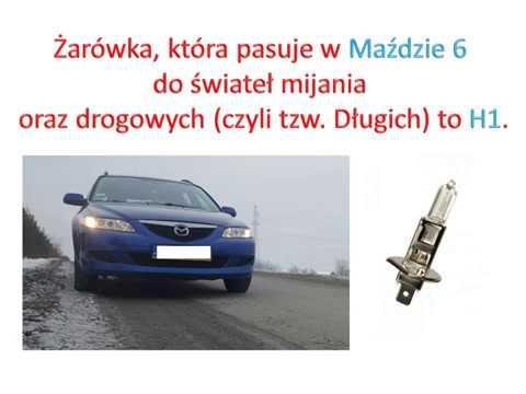 Wymiana żarówki Mazda 6 światła Mijania Krótkie I Generacja Mazda 6