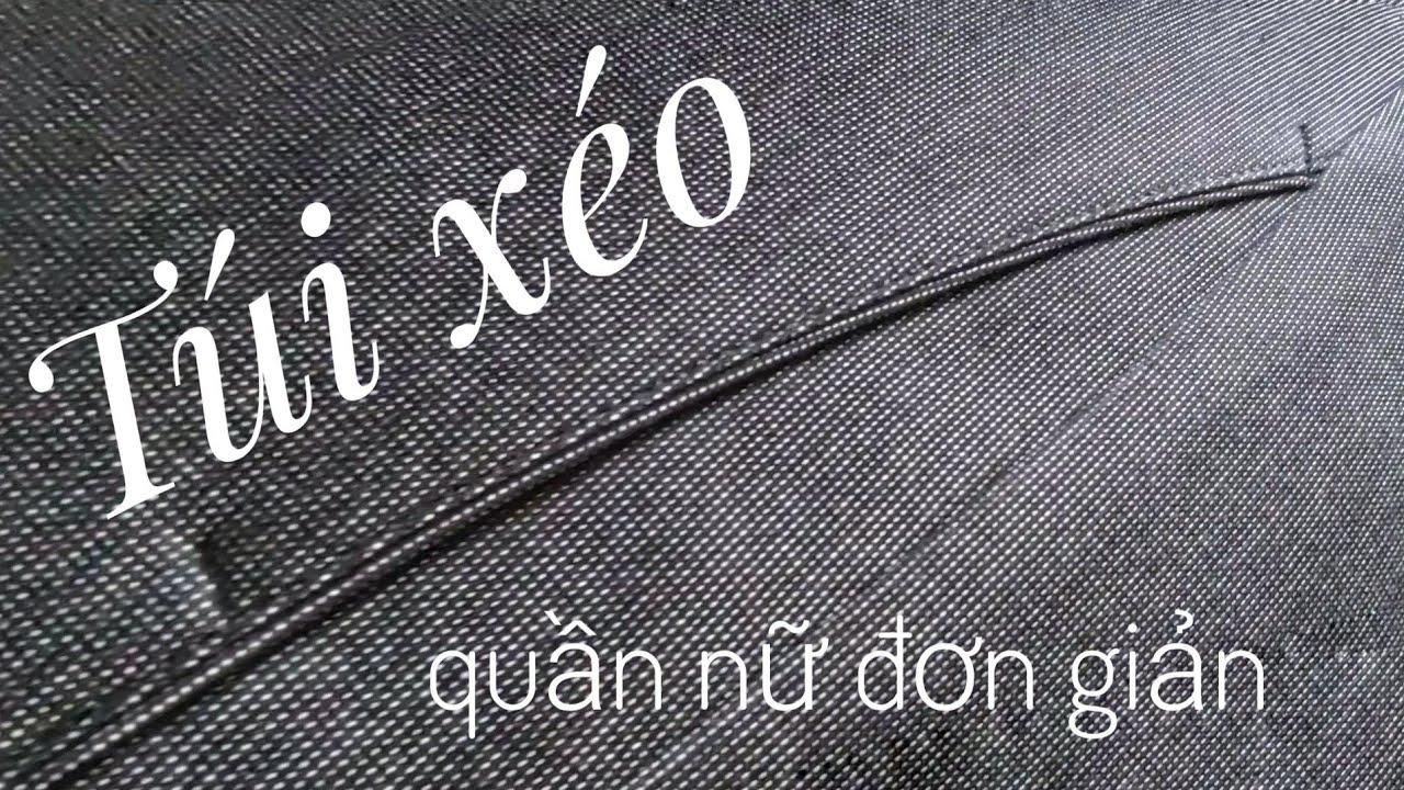 [Np Tailor] Túi xéo đơn giản cho quần Nữ | Sew easy pocket for women trouser