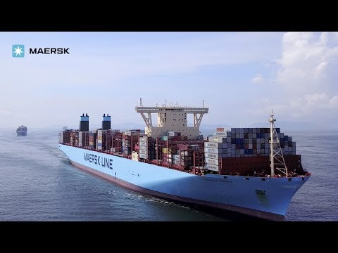 Triple-E vessel Madrid Maersk calls at Modern Terminals in Hong Kong 9 July 2017