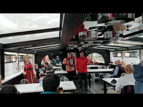 Russian folk music boat tour St Petersburg Russia