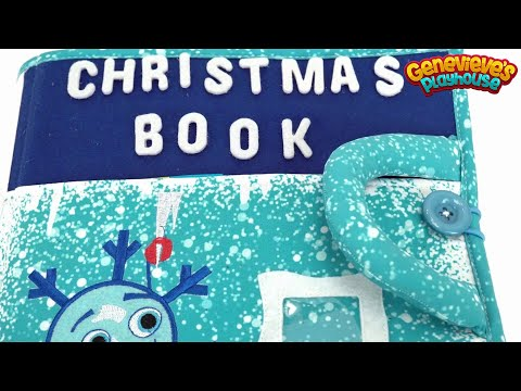 Piqipi Christmas Book With Velcro Activities For Kids!