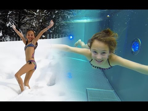 Carla Underwater swimming with snow