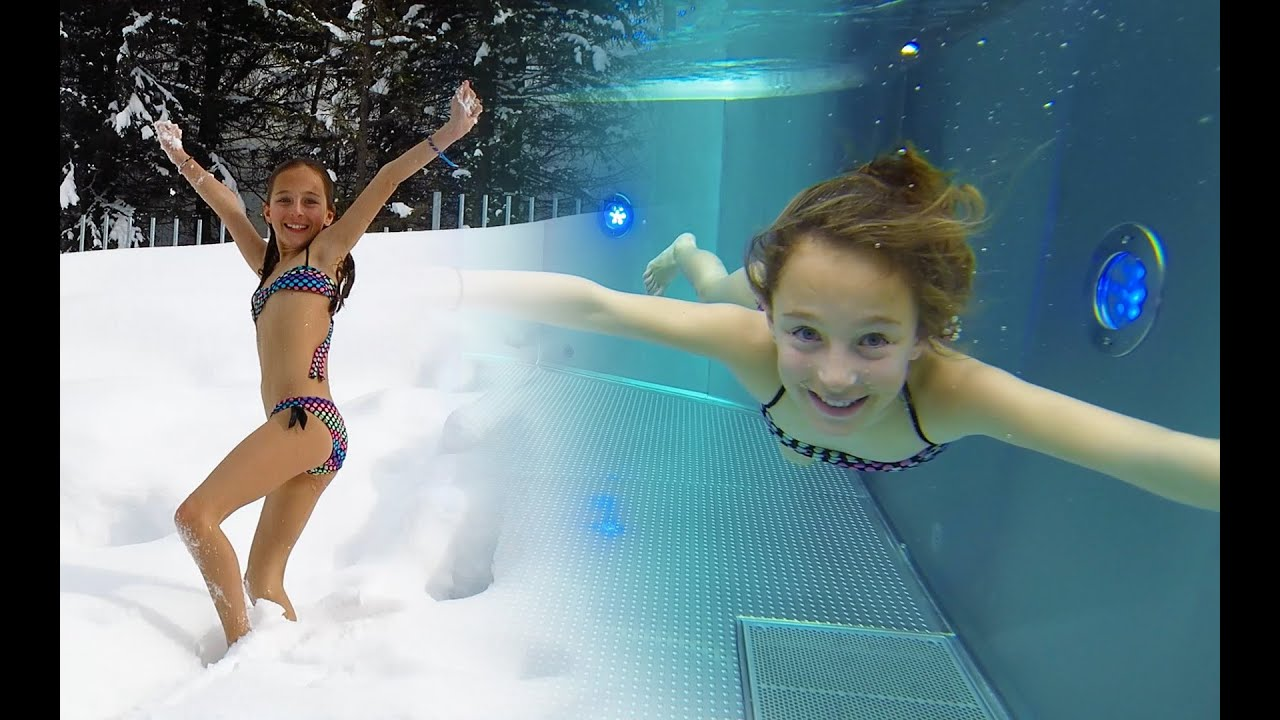 Carla Underwater Swimming With Snow Youtube
