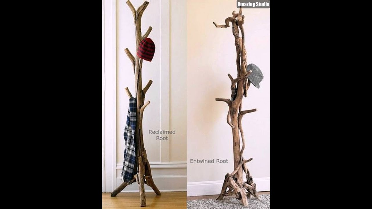 DIY Branches Coat Rack Design YouTube Impressive Tree Branch Coat Rack Diy