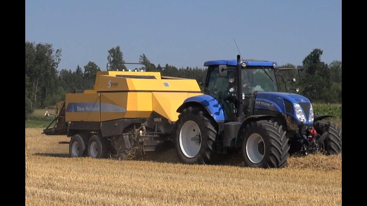 traktor new holland t7 und new holland bb960 im. Black Bedroom Furniture Sets. Home Design Ideas