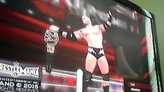 Randy Orton vs Seth Rollins for WWE Championship at WrestleMania 31 on WWE2K16