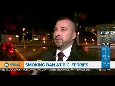 Smoking Ban Now In Effect At B.C. Ferries