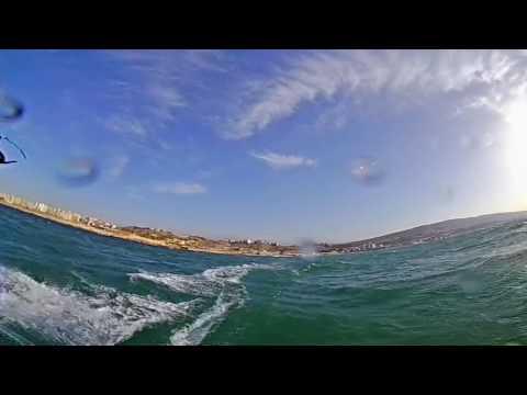 Kitesurfing Tripoli Lebanon. 360 Video