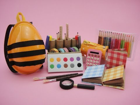 12 Barbie Hacks and Crafts - Backpack, School Supplies